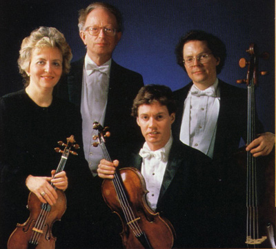 The Smithson String Quartet at the time of this recording (1986)