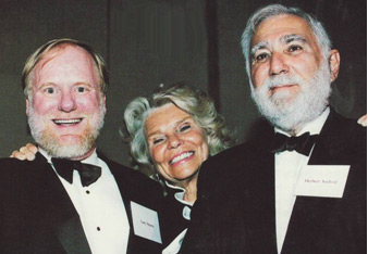 Gary Sturm, Evelyn Axelrod, and Dr. Herbert R. Axelrod at a Smithsonian event acknowledging the Axelrod's largesse